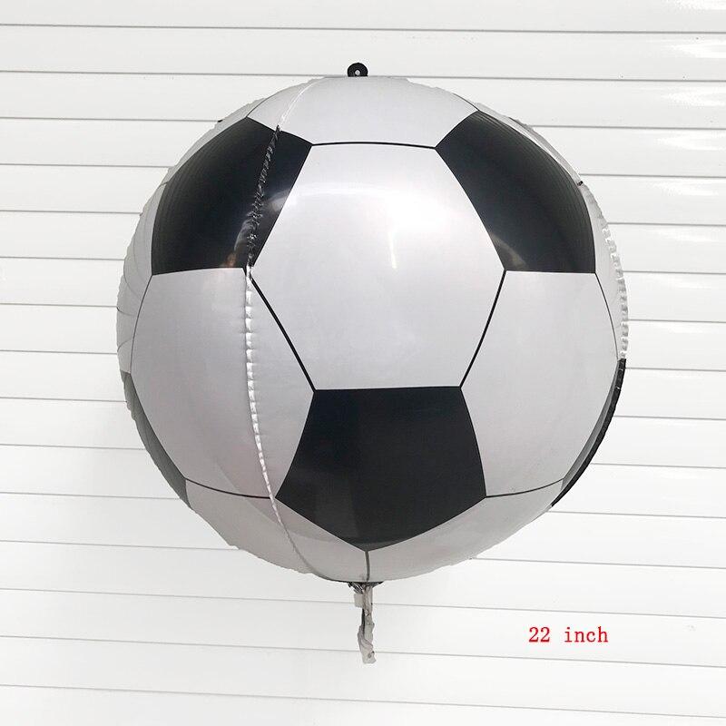 1 pc 22 polegada 4d balões da folha de futebol feliz aniversário festa balões decorações crianças brinquedos infláveis fãs futebol decoração diy