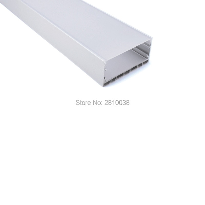 100X 1M Sets/Lot anodized silver aluminium led profile and Big U led strip profile for ceiling or wall lighting