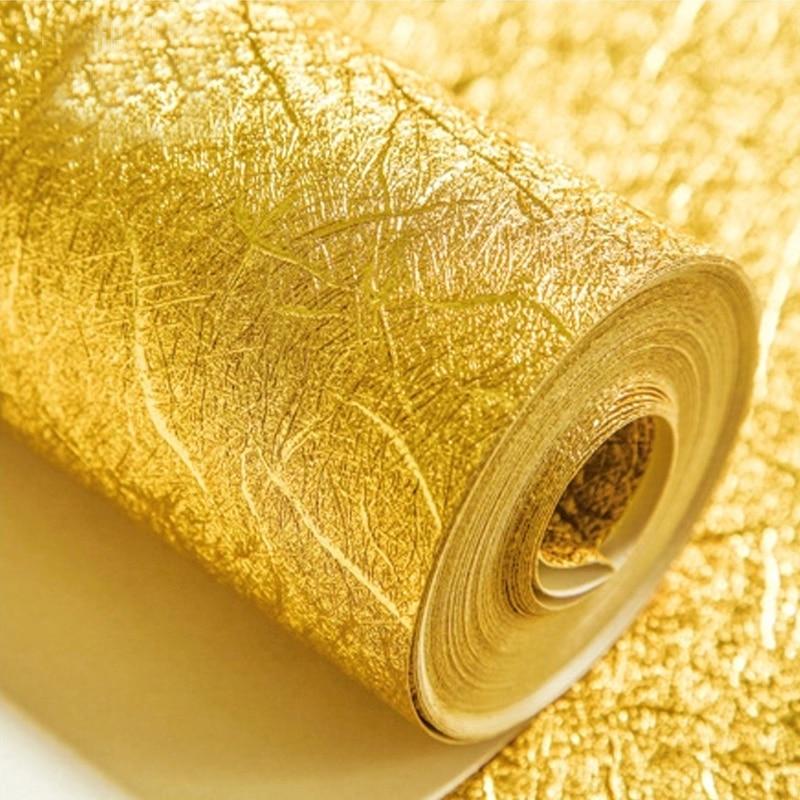 De alta calidad de la hoja de oro de plata de la hoja de papel de lujo de Europa en relieve de techo lámpara de techo, KTV casa pared dorada papel
