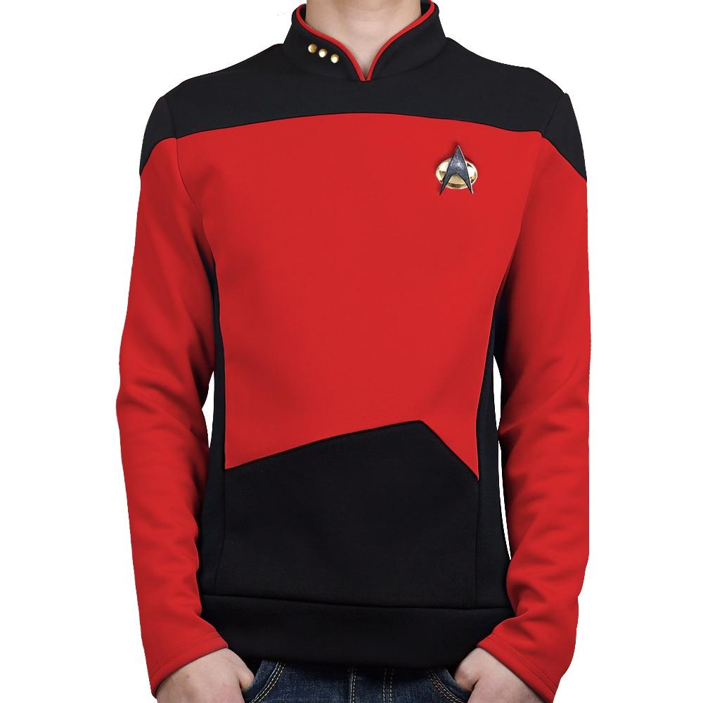 Звездная красная рубашка нового поколения, костюм для косплея для мужчин, вечерние костюмы на Хэллоуин