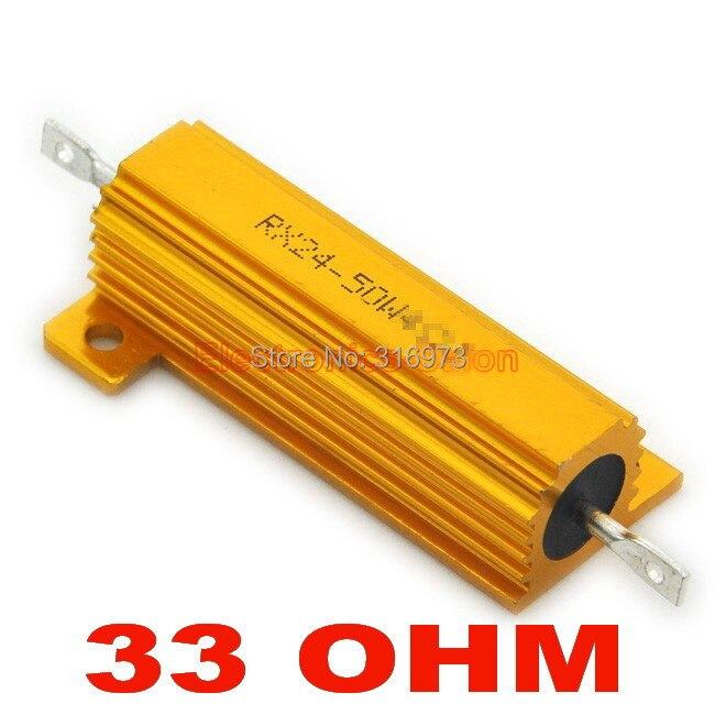 (20 pcs/lot) 33 OHM 50W Wirewound Aluminum Housed Resistor, 50 Watts.