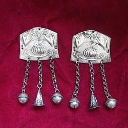 Estilo étnico hmong jóias artesanal miaoyin diy acessórios saco de roupas peça prata pingente 1pc