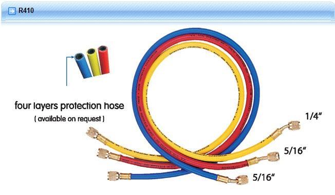 Hongsen CT-360 Three colors Refrigeration Charging Hose 150cm For R410