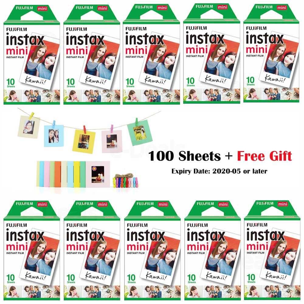 10-100 hojas Fujifilm Instax Mini película blanca papel fotográfico instantáneo para Fuji Instax Mini 9 8 7s 70 25 50s 90 Cámara SP-1 2 impresora
