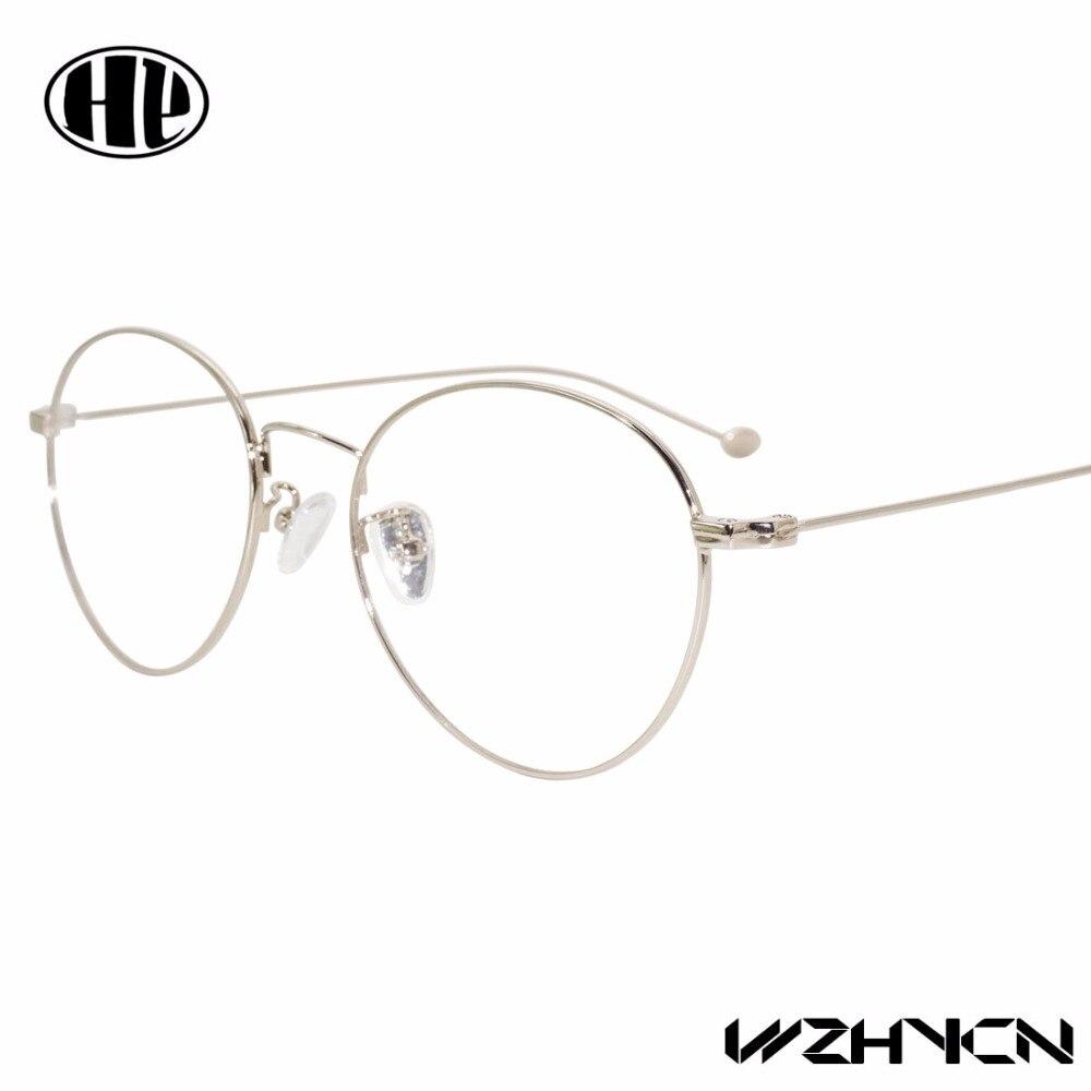 2018 mulheres super leves des lunettes homens gafas óculos de nerd óculos de armação de metal óculos redondos do vintage