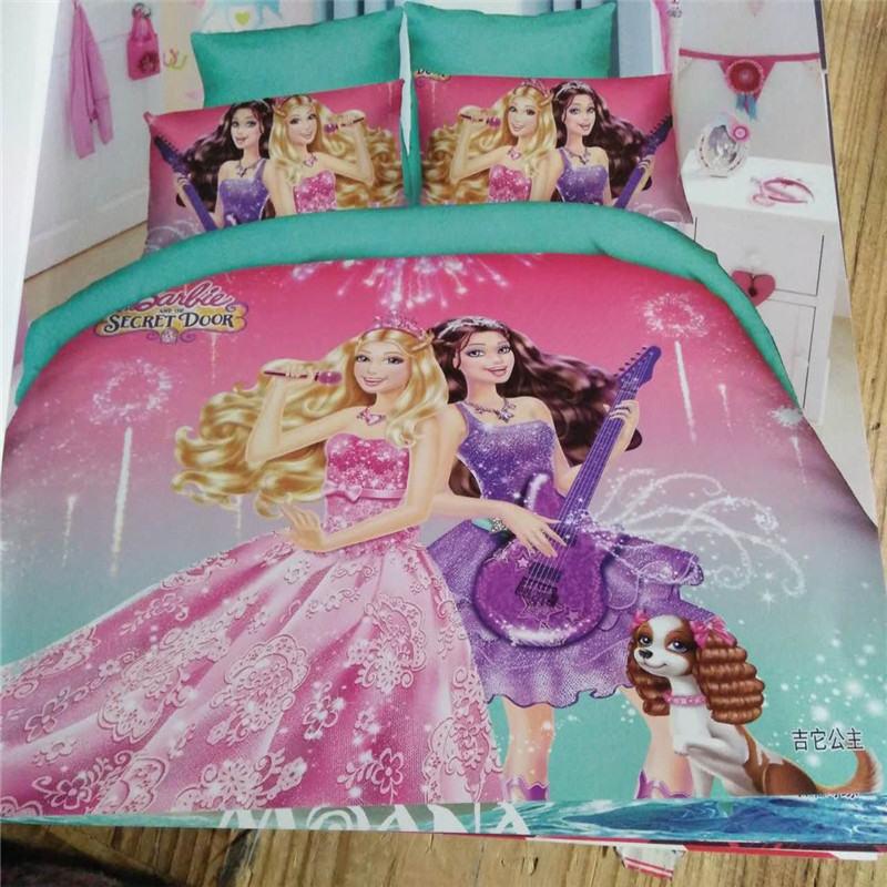 Juego de ropa de cama de princesa Barbie de Disney sábanas de...