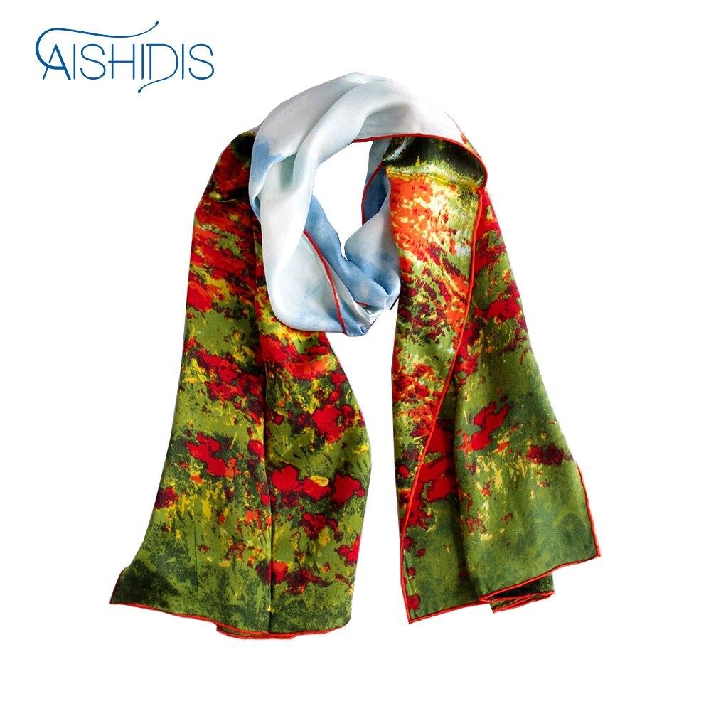 Длинный шелковый шарф шаль Клода монета