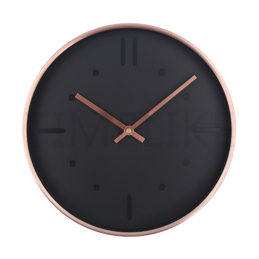 Silent Clock Luxury Style Quartz Metal Wall Clock Modern Designer Wall Clock Watches Quiet for Home Decor