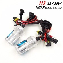 (1 par) H3 12V 35W lámparas de Xenón HID bombillas faros delanteros luces exteriores para coche (3000K 4300K 6000K 8000K 10000K elegir)