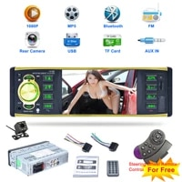 4 1 inch car radio audio stereo aux fm radio station bluetooth compatible autoradio with rearview camera remote control