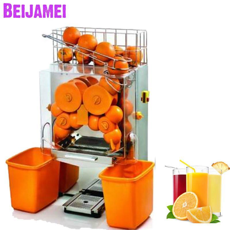 Máquina exprimidora de naranjas comercial y fresca E-2 BEIJAMEI, exprimidor automático para cítricos, exprimidor de limón eléctrico a la venta