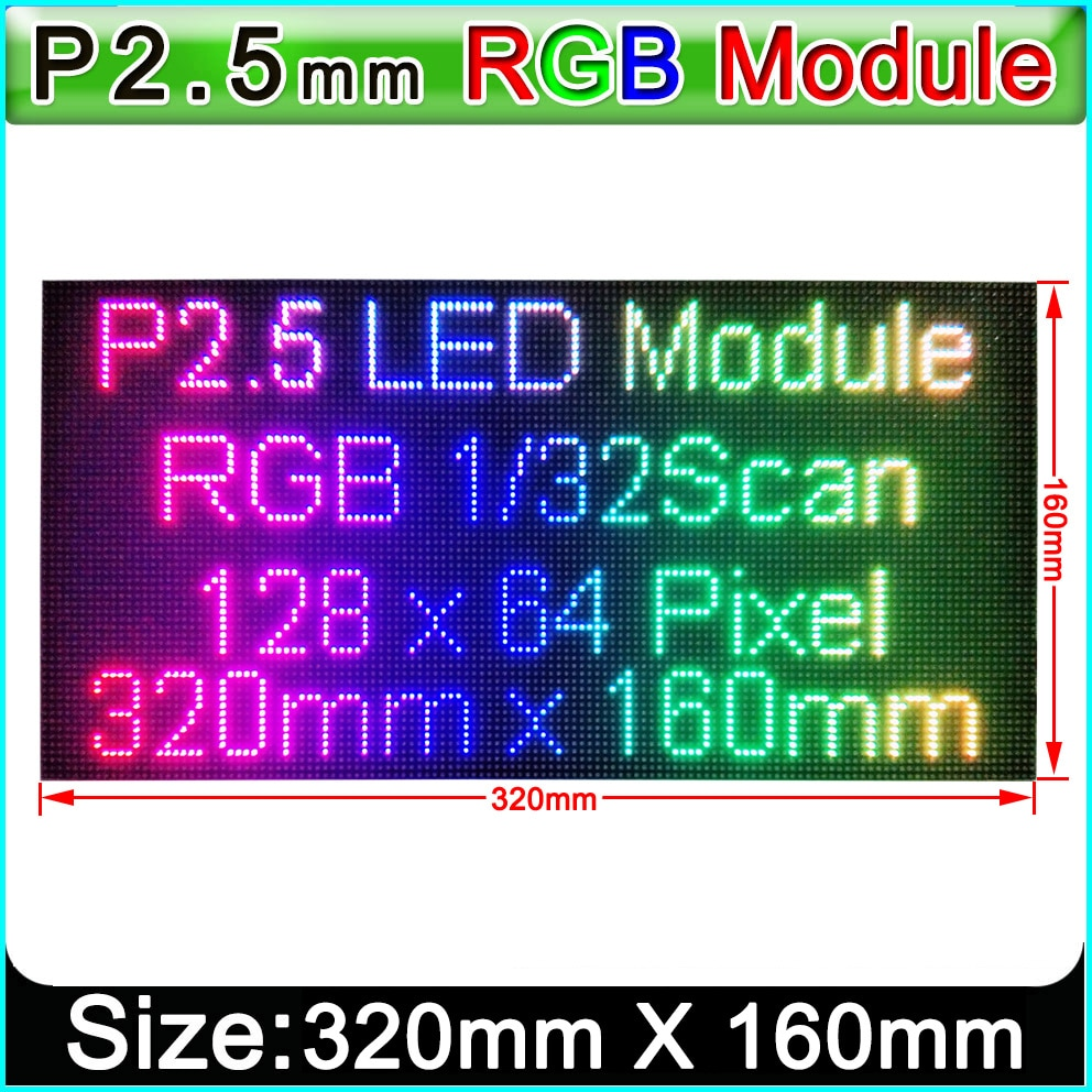 fine quality p2 5 indoor smd full color led module 1 32 scan 160x160mm 64x64 pixels hd video screen wall P2/P2.5 LED Module,Indoor Full Color HD Video Wall LED Display Module,P2.5 Indoor LED Video Wall LED Panel 320mm x 160mm