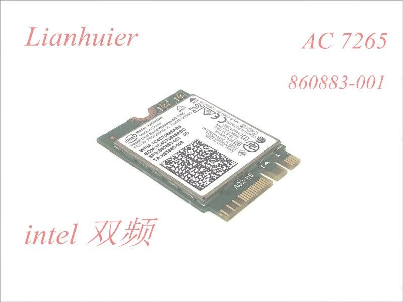 Para HP AC-7265 Dual Band Bluetooth Placa Wireless abgn 7265NGW + ac BT 4.0 NGFF 860883-001