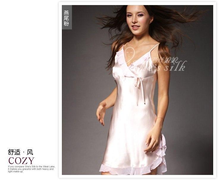 Ocidente empress100 % de seda de seda de seda sexy feminino suspensórios Princesa Dress8601