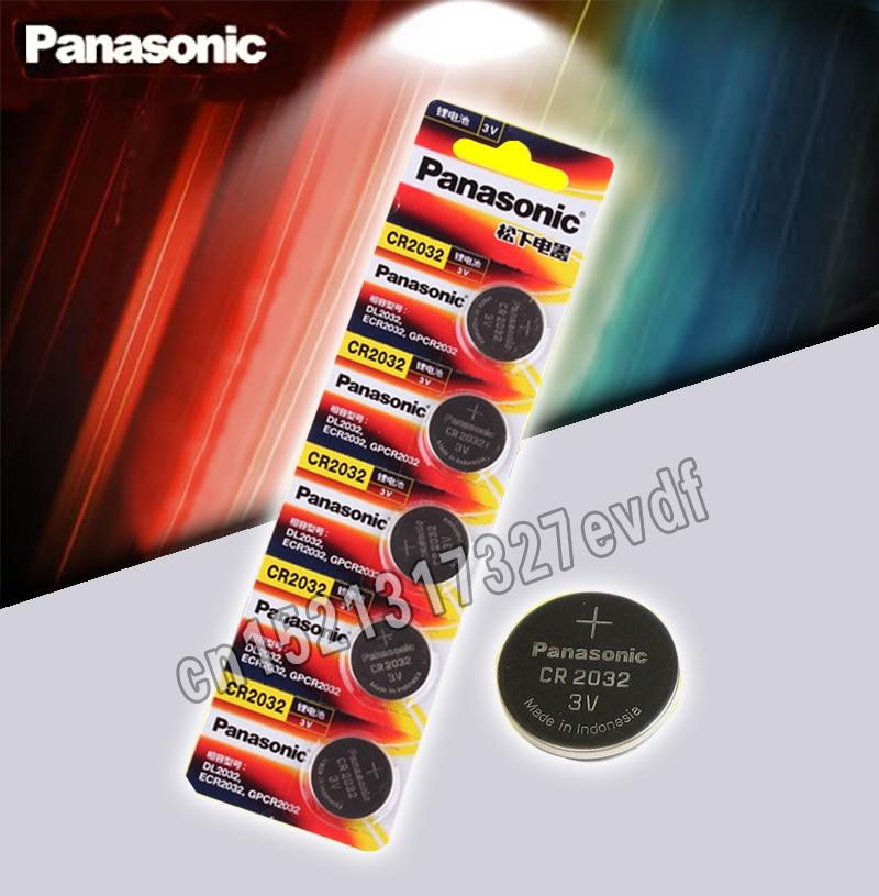 Panasonic Original 5 unids/lote cr 2032 pilas de botón 3V batería de litio para reloj Calculadora de Control remoto cr2032