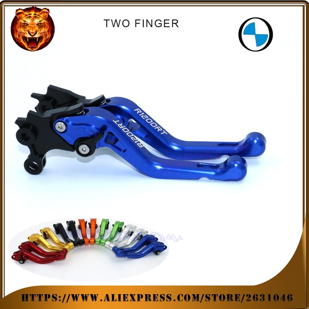 Para BMW R 1200RT 2010-2013 nuevo estilo azul negro 2 dedos rojo motocicleta ajustable freno corto palancas de embrague