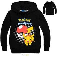 Nuevo otoño suéter de algodón de dibujos animados POKEMON Pikachu niños Niñas Ropa de manga larga suéter 3-14Y
