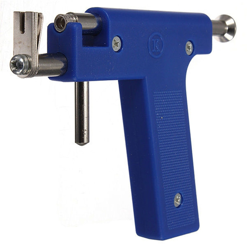 Pro orelha de aço nariz umbigo corpo piercing gun tool kit 98 pçs instrumento studs conjunto jóias ferramentas & equipamentos