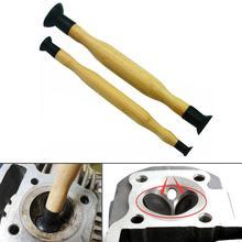 Ventouse pour cylindre de moto   Bâtonnets de rodage, poignée en bois avec ventouse, cylindre de moto automobile, meulage des vannes de moteur 2 pièces
