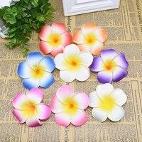 OEufs artificiels Plumeria  10 pieces  5 6 7cm bricolage fausses fleurs  pour une coiffure hawaienne  pour un mariage  un anniversaire  pour decorer la maison