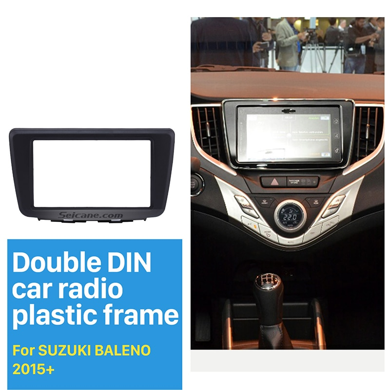 Hot ! 173*98MM Double Din Car Radio Fascia for 2015+ Suzuki Baleno DVD GPS CD Trim Radio Installation Kit Auto Stereo