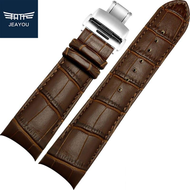 Pulseiras de Relógio Pulseira de Couro Faixa de Relógio Apenas para Tissot para os Homens Jeayou Novidades Strap Brown Genuíno 22mm 23mm 24mm Ver