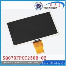 Nouveau 7 pouces écran LCD SQ070FPCC250R-02 résolution 1024*600 pour Changhong H702 3G 700CPNT-50Z-HD tablette