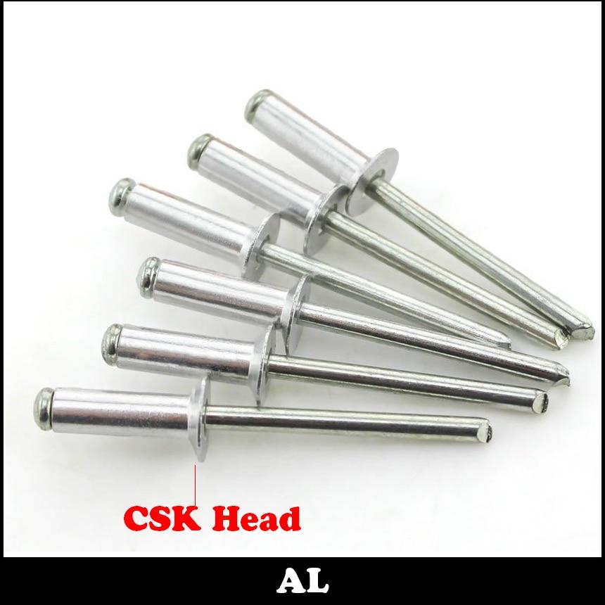 M3 M3*5 M3x5 M3*6 M3x6 M3*8 M3x8 AL Aluminum DIN7337 Self-Plugging Pull Nail POP Decorate CSK Countersunk Flat Head Blind Rivet