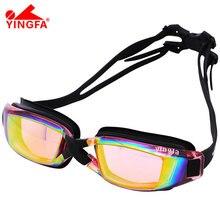 Yingfa Professional Silicone Large Frame Swimming Goggles Anti-fog UV Swimming Glasses for Men Women Diving Sports Eyewear