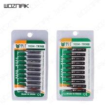 Wozniak 10 pièces/ensemble fer à souder Tsui embouts buse sans plomb pointe de fer à souder série 900M-T Kit doutils de réparation de Station de reprise