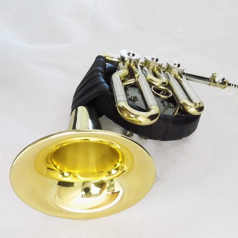 Bb Post Horn With case Rotary valves Post horn Brass Body wind Musical instruments enlarge