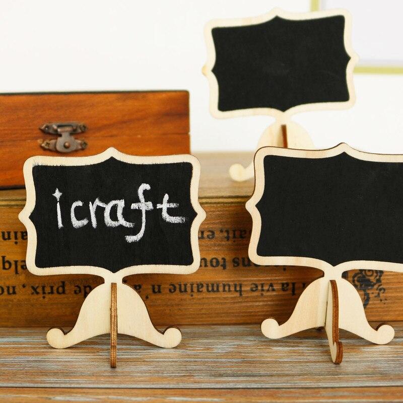 5 pcs Mini Blackboard Madeira Stand Quadro Etiqueta Mensagem de Aviso Escrito Bordo Placas de Número de Mesa Suprimentos de Escritório Da Escola
