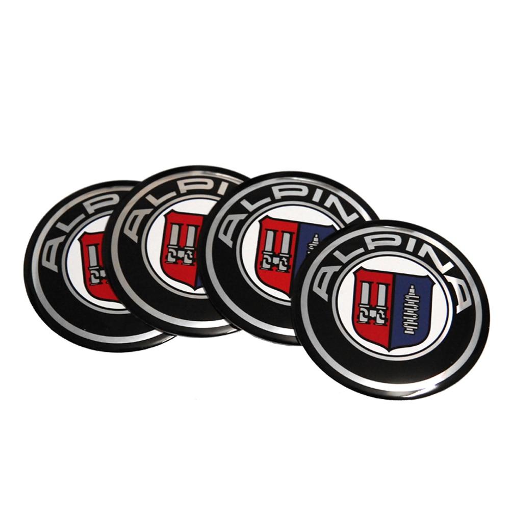 Car Sticker Wheel Center Hub Caps Alpina Emblem For BMW Z3 Z4 X1 X3 X4 X5 X6 F20 F30 F10 GT 118I 220I E90 E34 E36 E46 E49 E30