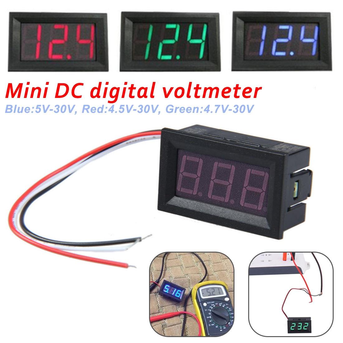 Mini voltímetro Digital amperímetro DC 4,5 V a 30V voltímetro medidor de...