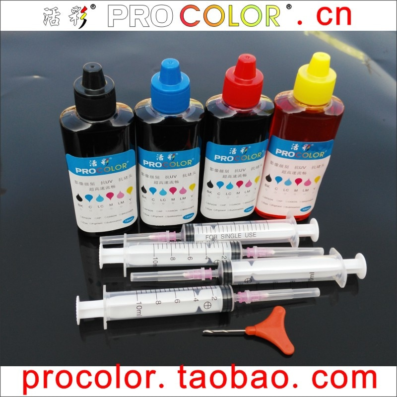 Tinta de pigmento 901BK 901 kit de recarga de tinta de tinte tricolor para impresora de inyección de tinta HP HP901 XL OfficeJet 4500 J4580 J4550 J4540 J4680 J4535
