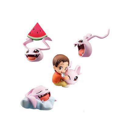 Chegada nova 4 pces./Lote 5cm pvc japonês anime desenho digital monstro/digimons figura collectible brinquedo modelo brinquedos