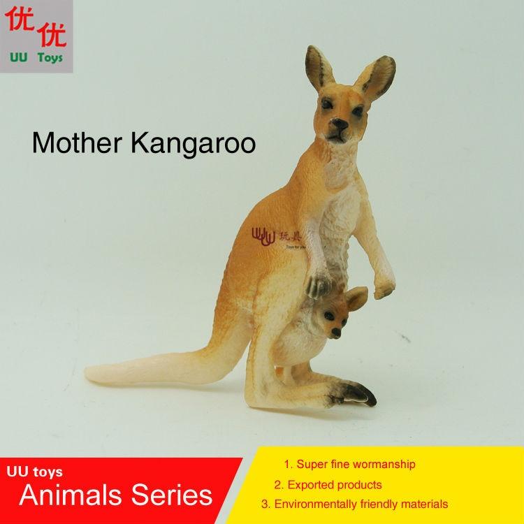 Hot toys:Mother Kangaroo Simulation model Animals kids toys children educational props