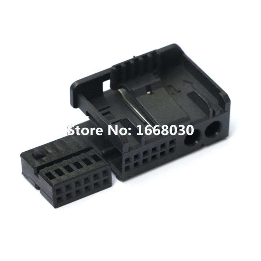 MOST Fiber Optic 2 + 12 Multimedia Connector 1-1355795-1 For Audi BMW Benz 2Pcs Car accesories interior Car decoration
