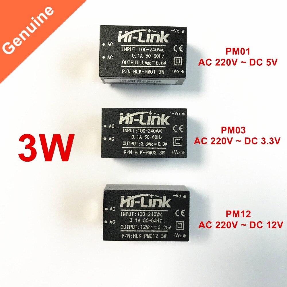 HLK-PM01 HLK-PM03 HLK-PM12 AC-DC 220 v a 5 v/3.3 v/12 v smps módulo mini módulo de fonte de alimentação oi-link original e sem escudo