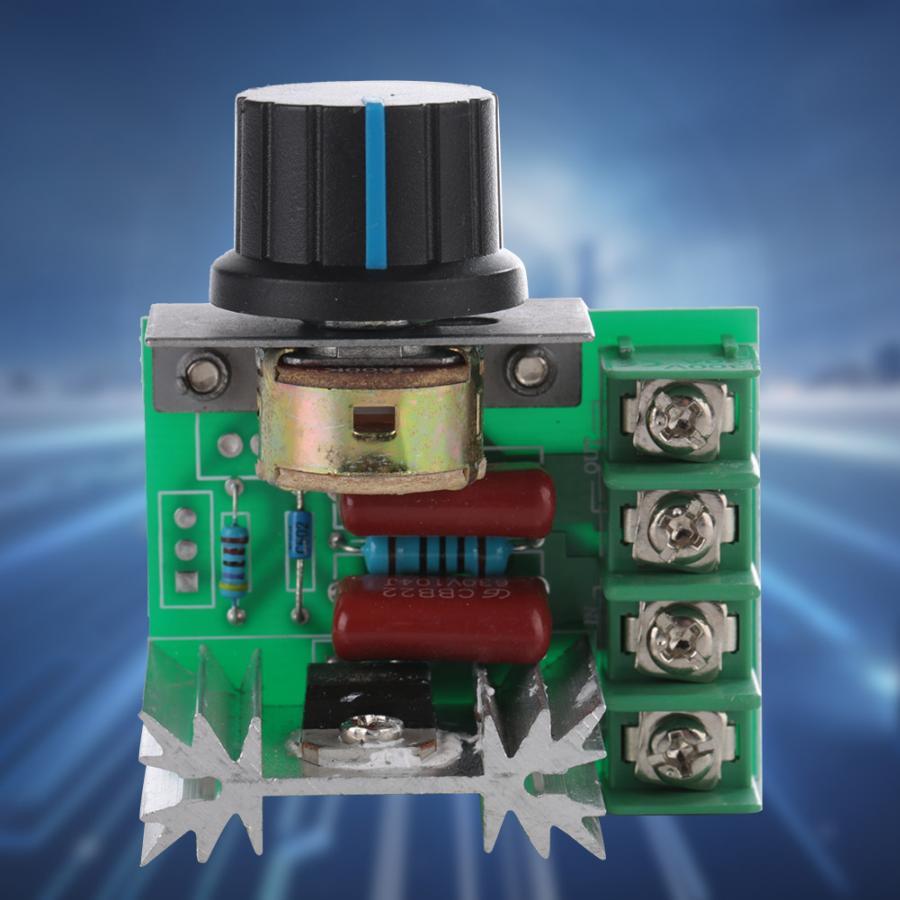 Controlador de potencia AC 220V 2000W tiristor Motor Control de velocidad controlador de potencia ajustable para Motor eléctrico de temperatura
