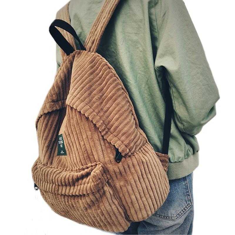 Mochila De moda mochila escolar para mujer mochila de pana mochila para adolescentes para niñas mochila femenina 440
