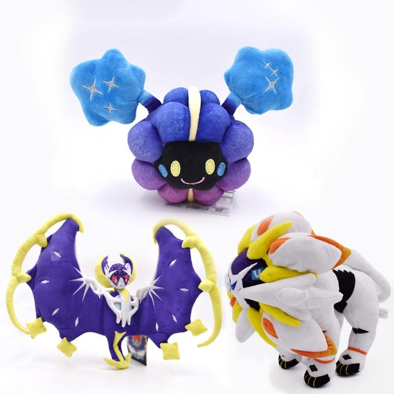 3 вида стилей Изящные Alola Solgaleo Lunala Cosmog SUN & MOON плюшевые игрушки в виде животных Peluche Японские Аниме фигурки Куклы