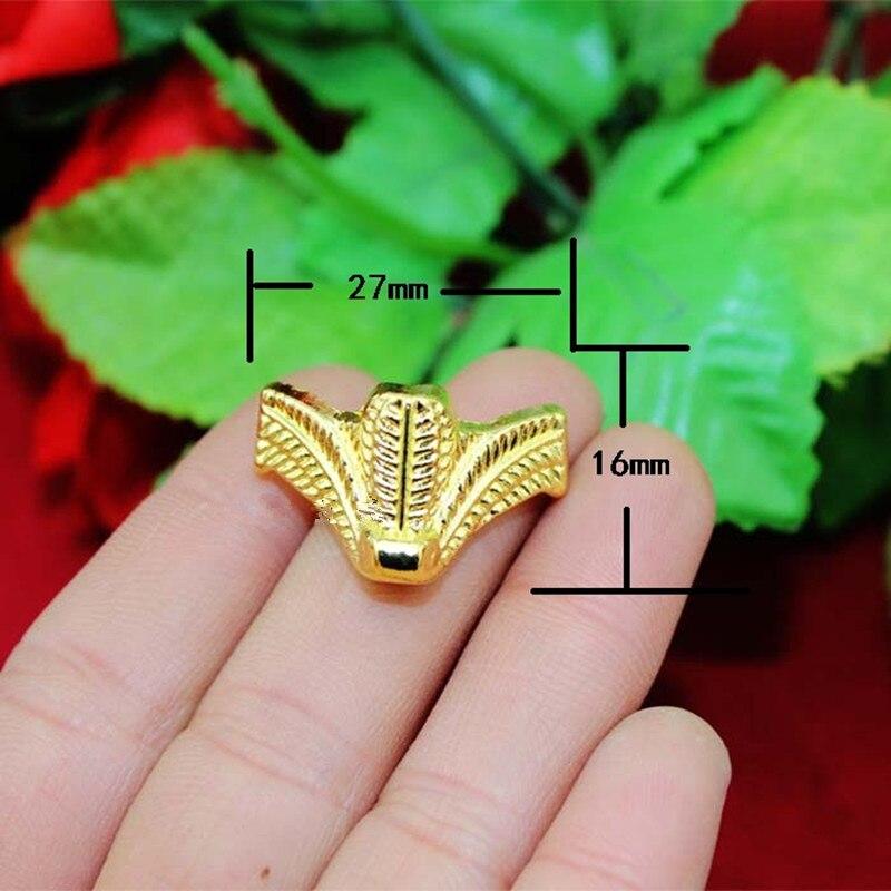 السائبة خمر الزنك سبيكة مجوهرات هدية صندوق حافظة خشبية ديكو نحت ركن حامي ، أثاث صغير القدم ، الذهب اللون ، 27*16 مللي متر ، 200 قطعة