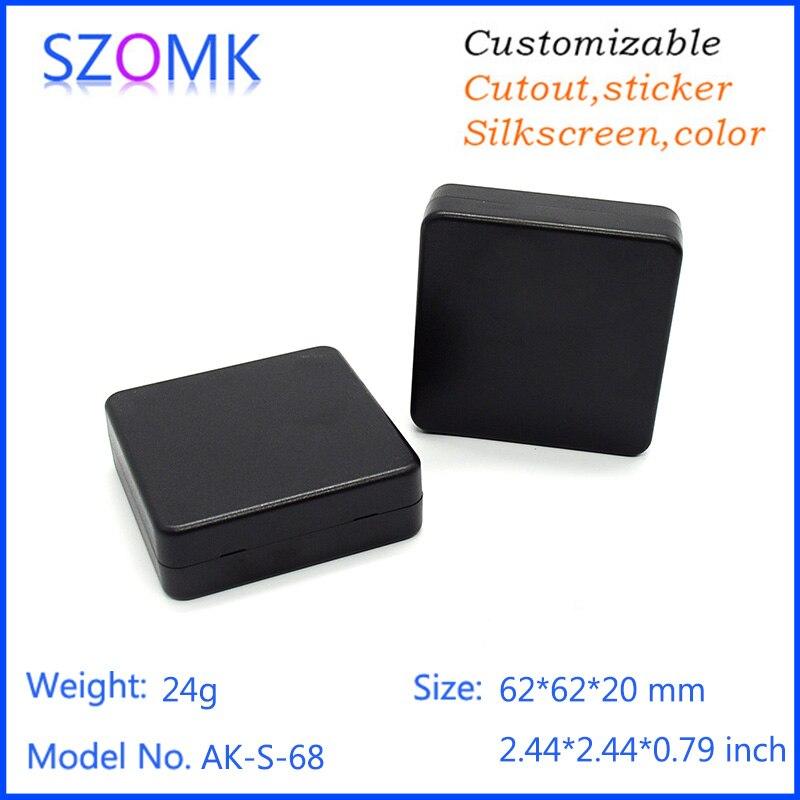 4 stuks veel zwart plastic behuizing juncting behuizing case elektronica distributie voor elektrische apparatuur 62*62*20mm