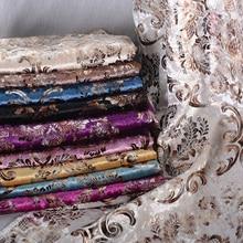Tissu dameublement de luxe en velours doux   1 mètre, Jacquard, Chenille, motif fleurs pour canapé, oreiller, chaise à manger, Tissu Tela