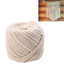 Cordes en Textile à cordon torsadé   Corde en macramé coton naturel Beige 5mm x 65M 1 rouleau, pour décoration artisanale bricolage