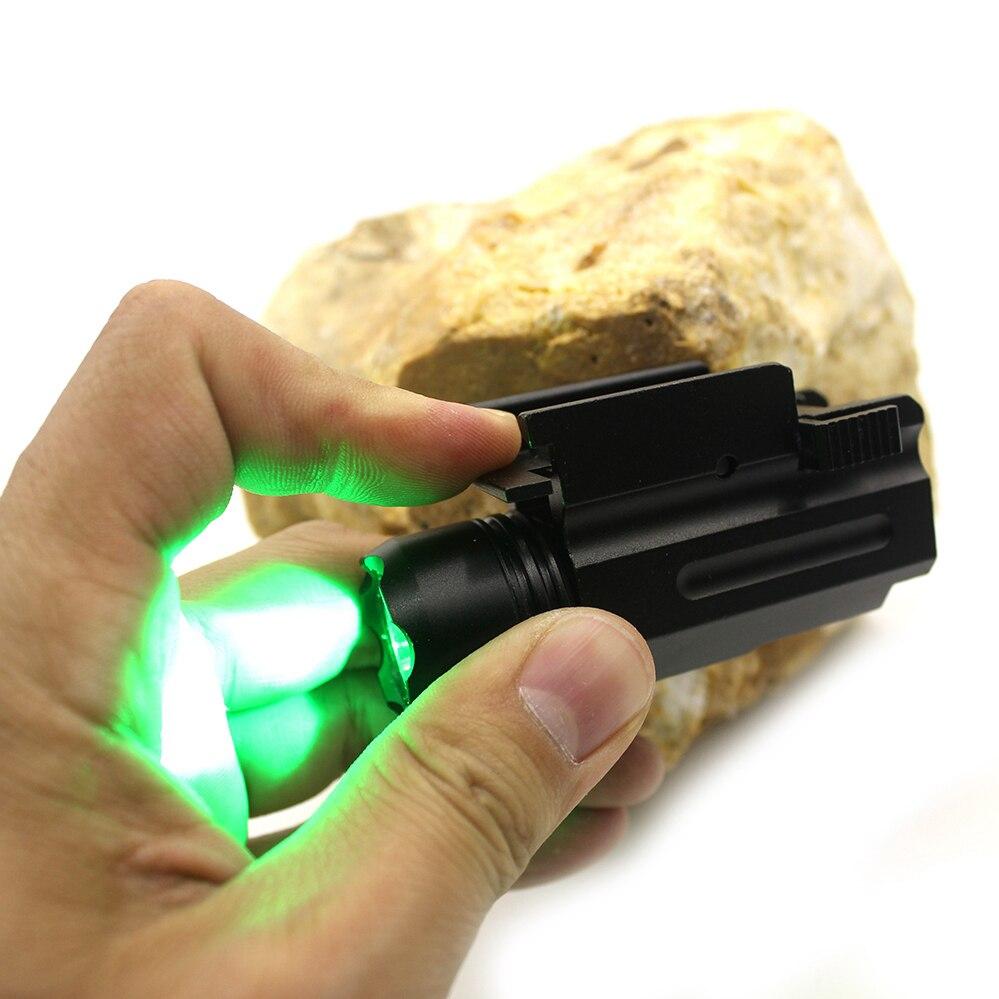 Luz Led de liberación rápida Cree Picatinny Weaver 21mm riel fit glock exterior caza verde táctico linterna