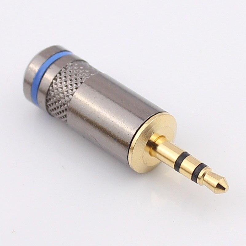 Excelente 3,5mm conector de auriculares 3.3.5 macho cobre puro chapado en oro cola agujero 6,5mm cinturón de anclaje tarjeta