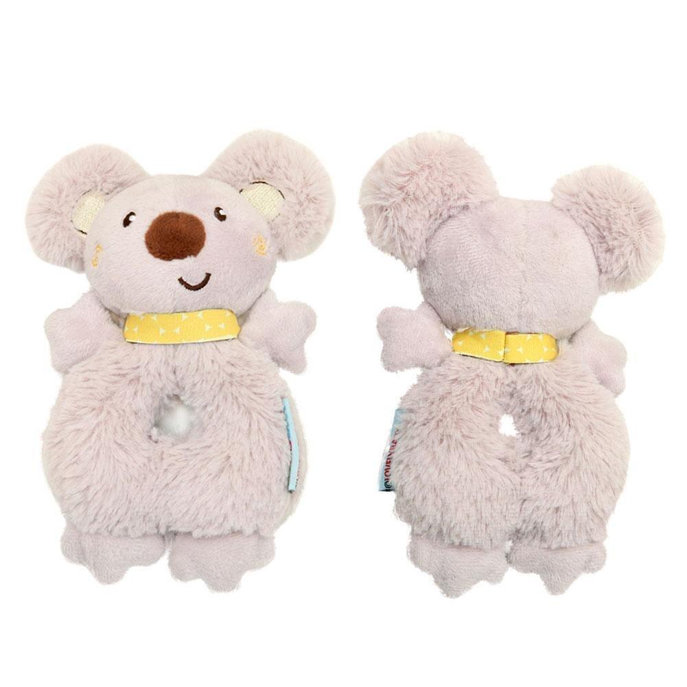 Fashion Newborn Infant Rattles Toy Handbell Cartoon Animal Koala Boy Girl Hand Bell Toddler Baby Plush Toys Gifts