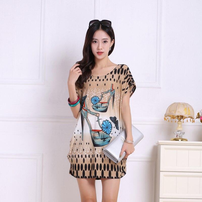 2018 verano mujeres casual manga corta Camisetas tops y Camisetas talla grande suelta camiseta moda túnica l-5xl grande